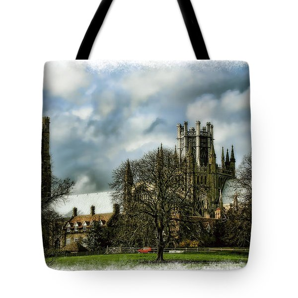 Ely Cathedral In Watercolors Tote Bag by Joanna Madloch