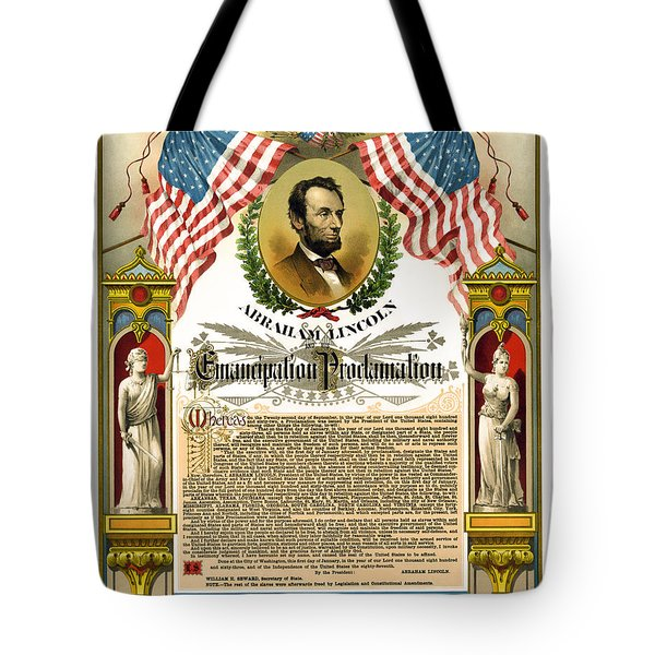 EMANCIPATION PROCLAMATION TRIBUTE 1888 Tote Bag by Daniel Hagerman