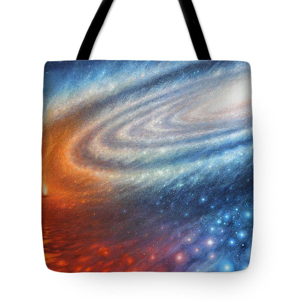 Embers Of Exploration And Enlightenment Tote Bag by Lucy West