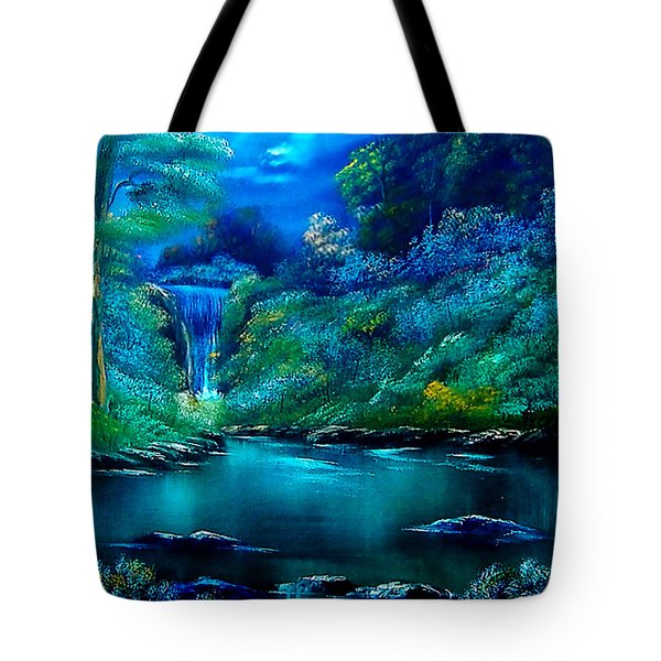 Emerald Falls 2 Tote Bag by Cynthia Adams