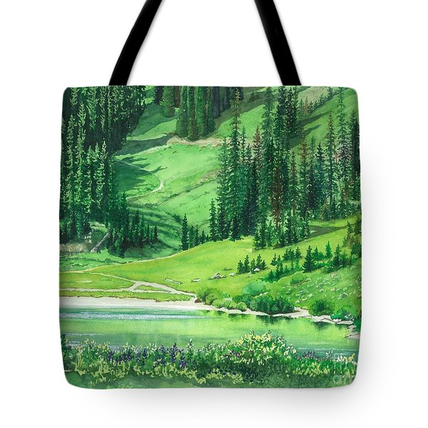 Emerald Lake Tote Bag by Barbara Jewell