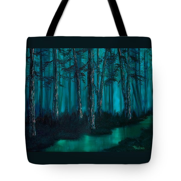 emerald stream Tote Bag by Tracy Tauber