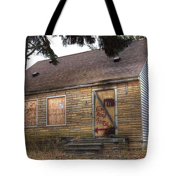 Eminem's Childhood Home Taken On November 11 2013 Tote Bag by Nicholas  Grunas