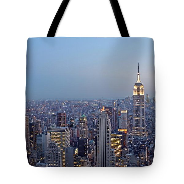 Empire State Building In Midtown Manhattan Tote Bag by Juergen Roth