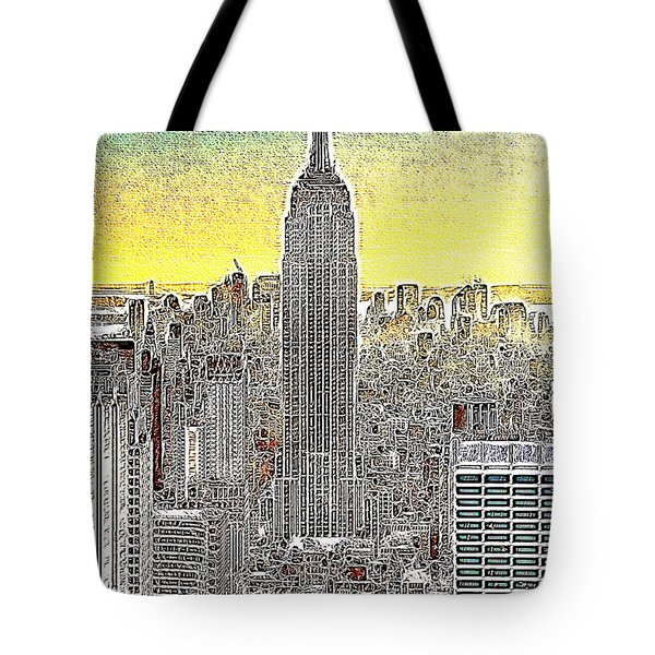 Empire State Building New York City 20130425 Tote Bag by Wingsdomain Art and Photography