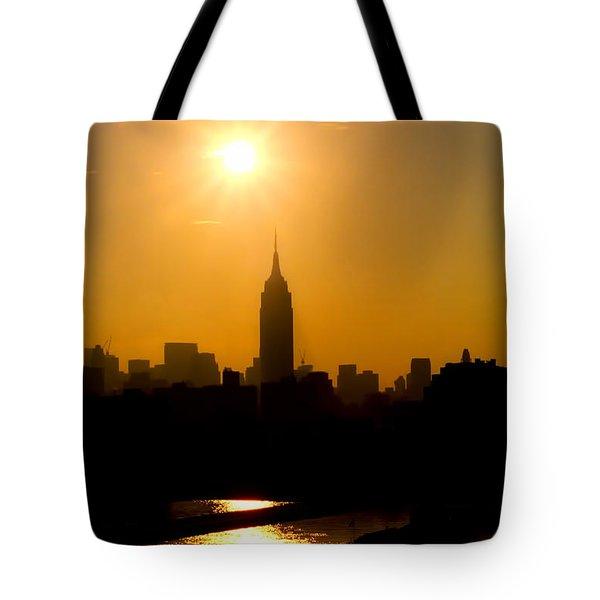 Empire Sunrise Tote Bag by Joann Vitali