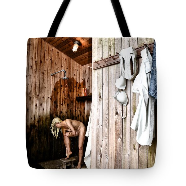 Employee Showers Tote Bag by Bill Cannon
