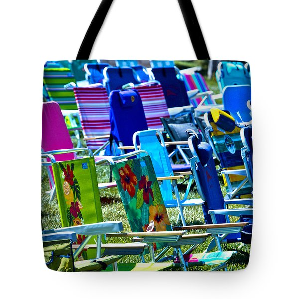 Empty Chairs Tote Bag by Garry Gay