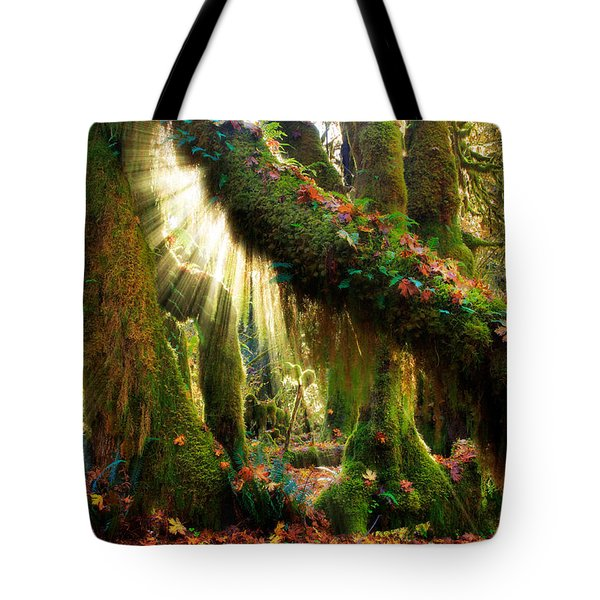 Enchanted Forest Tote Bag by Inge Johnsson