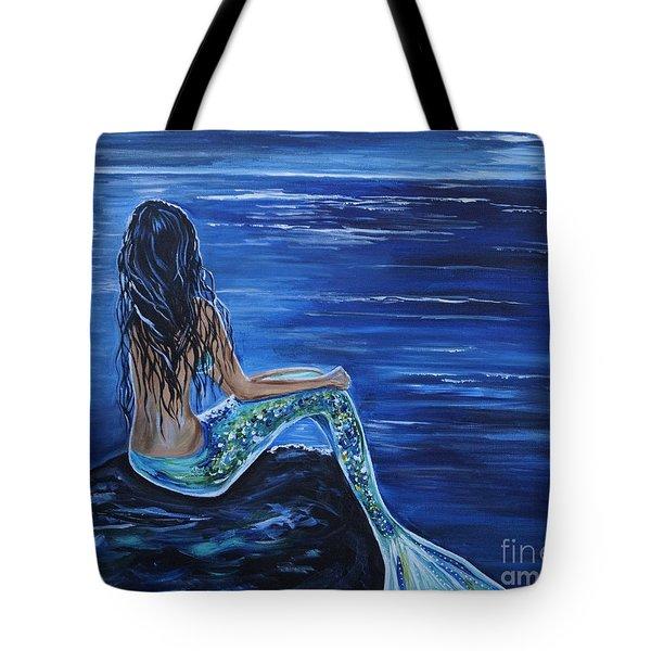 Enchanting Mermaid Tote Bag by Leslie Allen