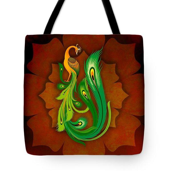 Enchanting Peacock 1 Tote Bag by Bedros Awak