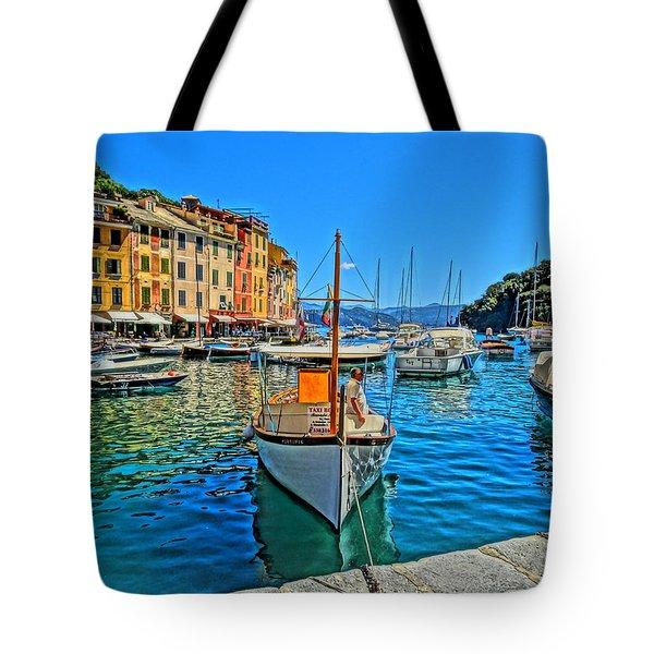 Enchanting Portofino In Ligure Italy Iv Tote Bag by M Bleichner