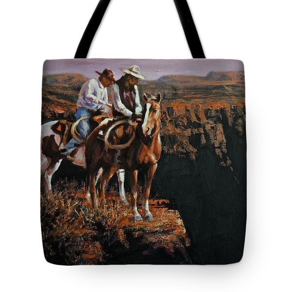 End Of The Trail Tote Bag by Mia DeLode