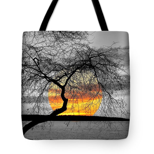 English Bay Sunset Tote Bag by Brian Chase