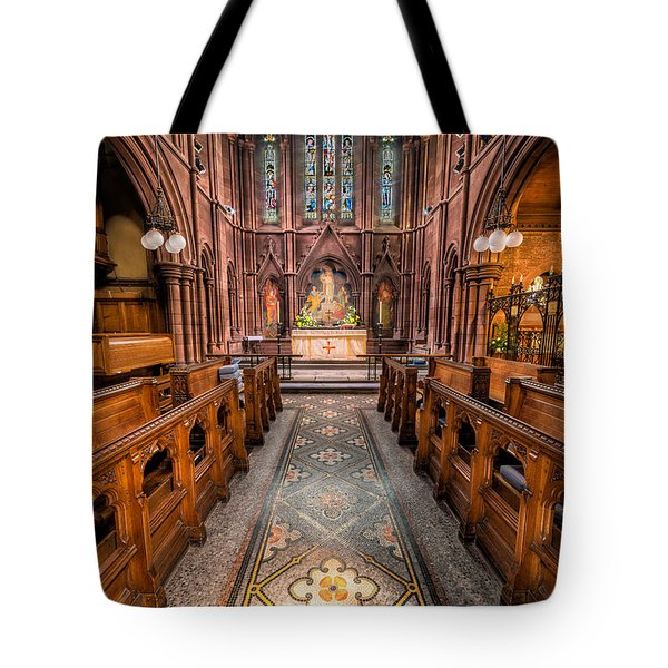 English Church 2 Tote Bag by Adrian Evans