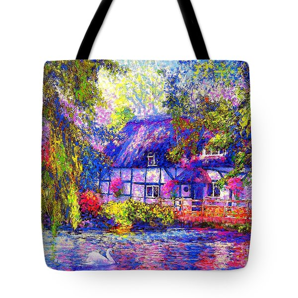 English Cottage Tote Bag by Jane Small