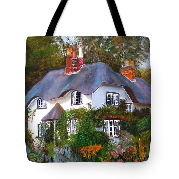 English Cottage Tote Bag by LaVonne Hand