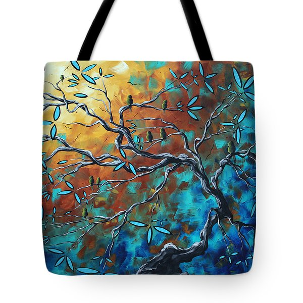 Enormous Abstract Bird Art Original Painting WHERE THE HEART IS by MADART Tote Bag by Megan Duncanson