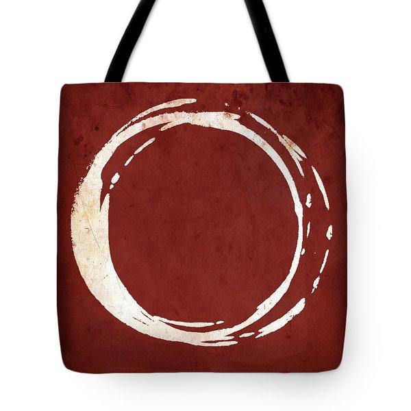Enso No. 107 Red Tote Bag by Julie Niemela