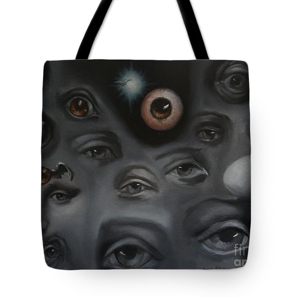 Enter-Preyes Tote Bag by Lisa Phillips Owens