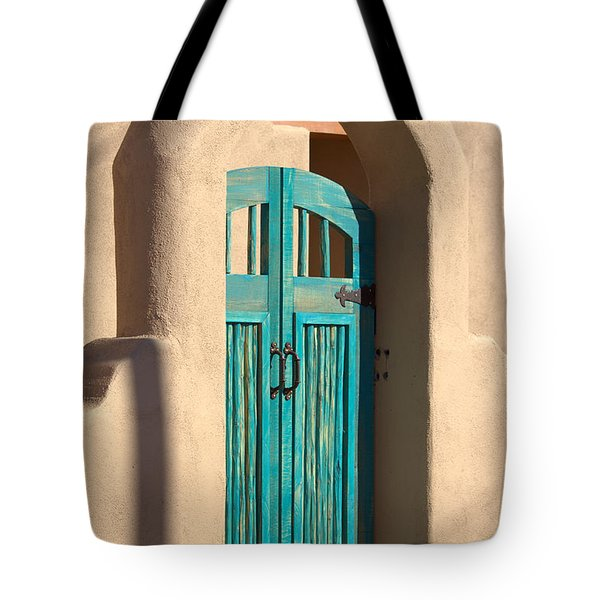 Enter Turquoise Tote Bag by Barbara Chichester