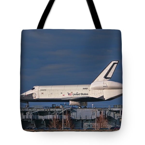 Enterprise at the Intrepid Tote Bag by S Paul Sahm