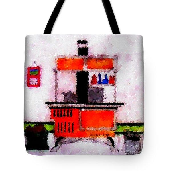Enterprise Woodstove Tote Bag by Barbara Griffin