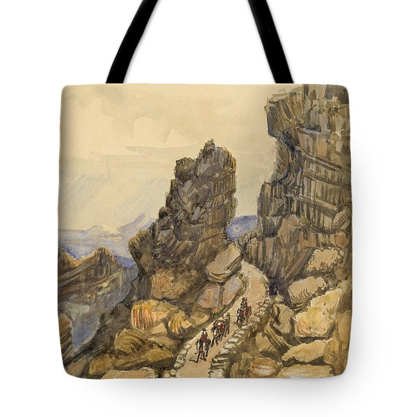Entrance To The Almanna Gau Circa 1862 Tote Bag by Aged Pixel