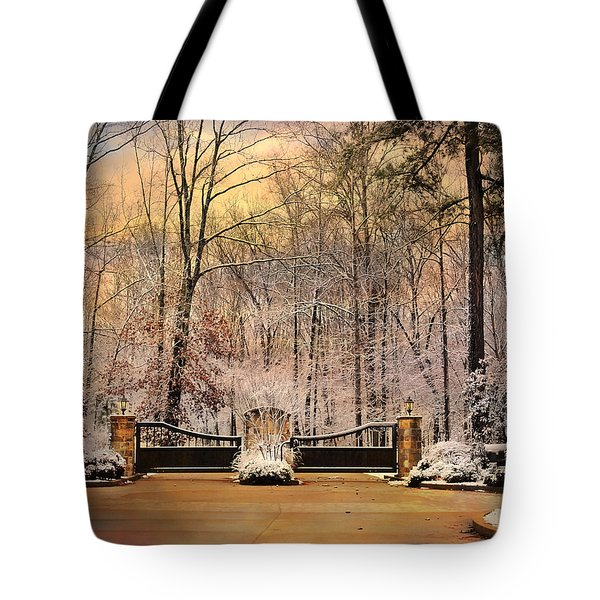 Entrance To Winter Tote Bag by Jai Johnson