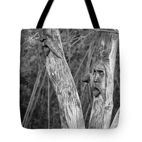 Ents 2 monochrome Tote Bag by Steve Harrington