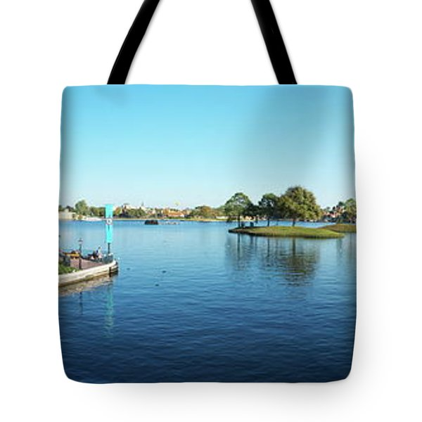 Epcot World Showcase Lagoon Panorama 05 Walt Disney World Tote Bag by Thomas Woolworth