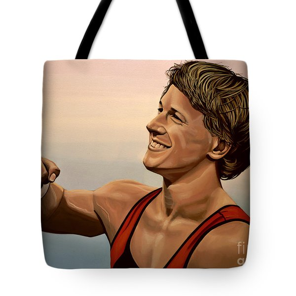 Epke Zonderland The Flying Dutchman Tote Bag by Paul  Meijering