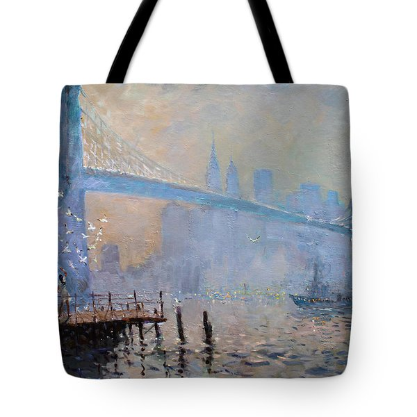 Erbora And The Seagulls Tote Bag by Ylli Haruni