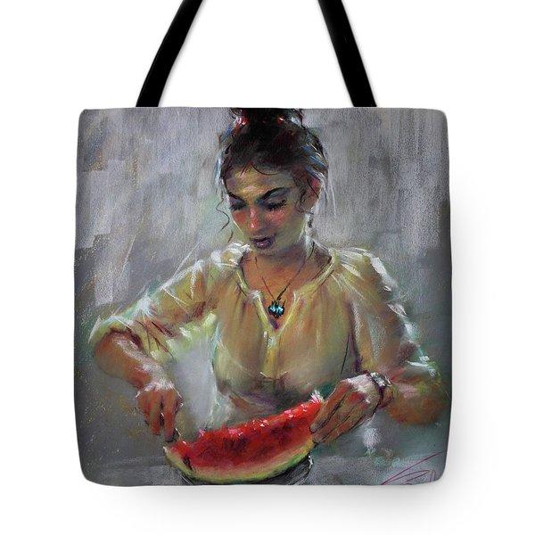 Erbora With Watermelon Tote Bag by Ylli Haruni