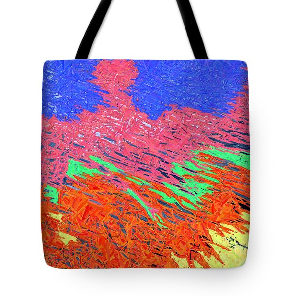 Erupting Lava Meets The Sea Tote Bag by Joseph Baril