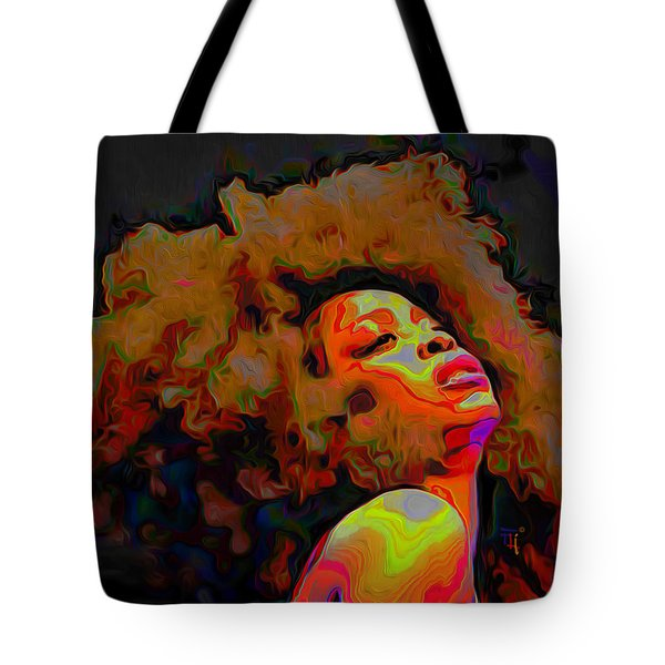 Erykah Badu Tote Bag by  Fli Art
