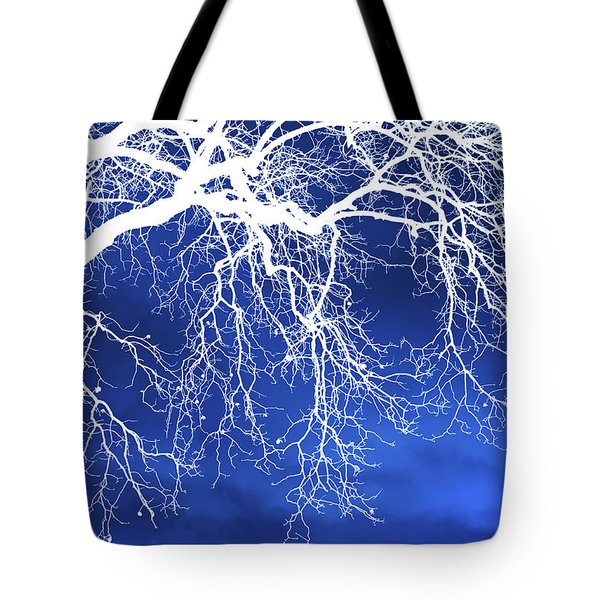 Escaping The Blues Weeping Tree Art Tote Bag by Christina Rollo