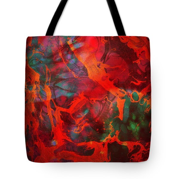 Eternal Flow Tote Bag by Ally  White