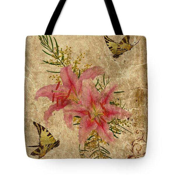 Eternal Love Message Tote Bag by Olga Hamilton