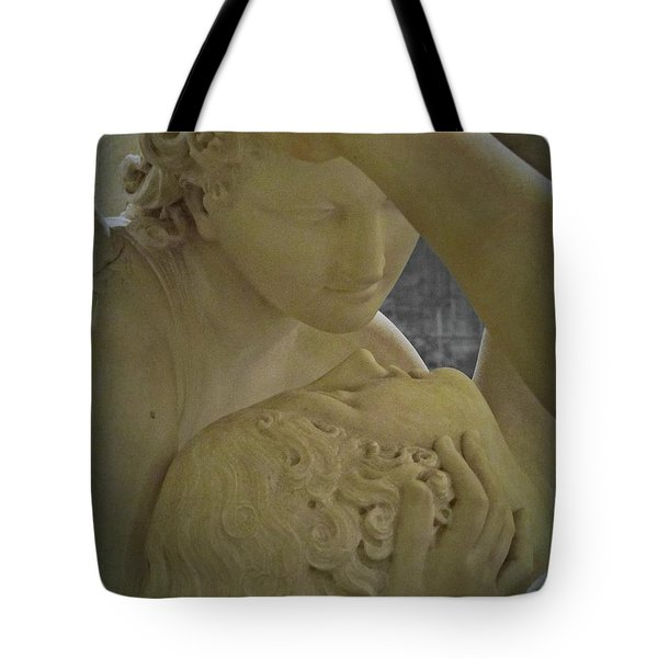 Eternal Love - Psyche Revived By Cupid's Kiss - Louvre - Paris Tote Bag by Marianna Mills