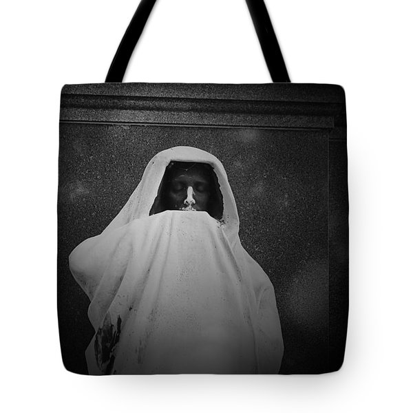 'eternal Silence'- Graceland Cemetery Chicago Tote Bag by Christine Till