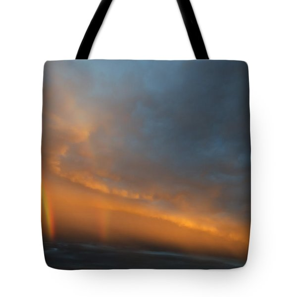 Ethereal Clouds and Rainbow Tote Bag by Greg Reed