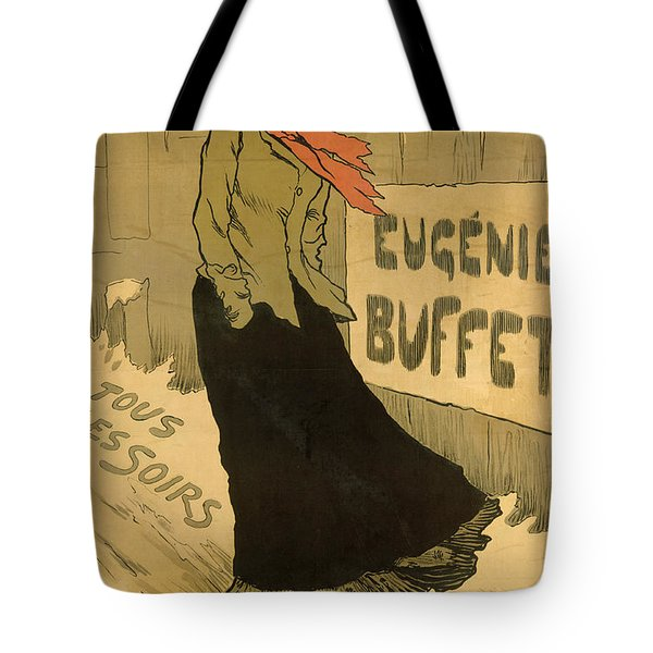 Eugenie Buffet Poster Tote Bag by Lucien Metivet
