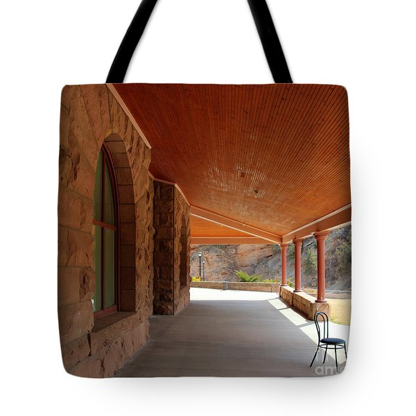 Tote Bag featuring the photograph Evans Porch by Bill Gabbert