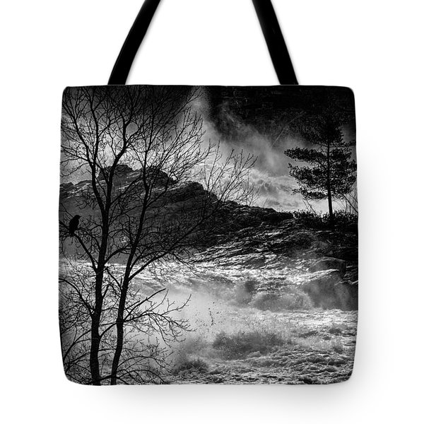 Evening Great Falls Maine Tote Bag by Bob Orsillo