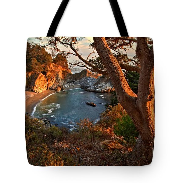 Evening Light At Pfeiffer Burns Tote Bag by Adam Jewell
