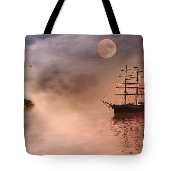 Evening Mists Tote Bag by John Edwards