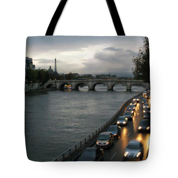Evening On Pont Au Change  Tote Bag by Joe Schofield