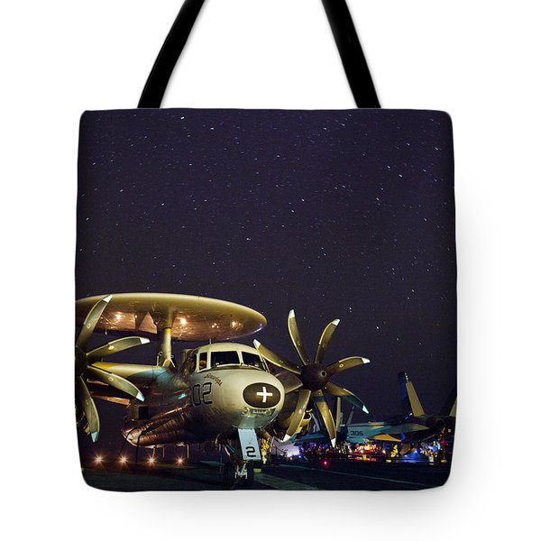 Evening on the Carrier Tote Bag by Mountain Dreams