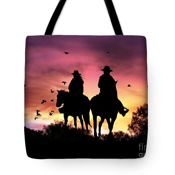 Evening Ride Tote Bag by Stephanie Laird